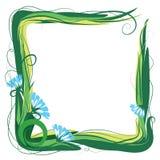 Рамка цветка и травы Стоковые Фото