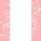 рамка цветка предпосылки орнаментирует белизну Стоковая Фотография