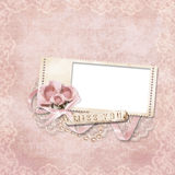 рамка цветка предпосылки романтичная Стоковое Изображение