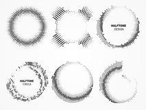 Рамка циркуляра полутонового изображения Технологические круги с точками иллюстрация штока