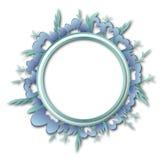 Рамка циркуляра цветков и листьев Стоковое Изображение