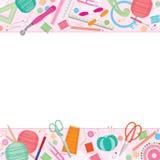 Рамка швейных наборов Стоковые Фотографии RF