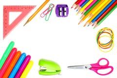 Рамка школьных принадлежностей Стоковое Изображение RF