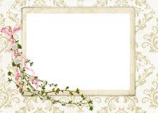 рамка штофа флористическая иллюстрация вектора
