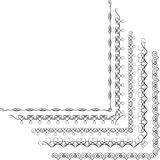 Рамка элементов вектора каллиграфическая Стоковые Фото