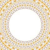 Рамка ювелирных изделий круглая с драгоценными камнями Стоковое Изображение RF