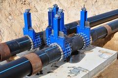 Рамка для промежуточных труб в канаве песка Стоковая Фотография RF