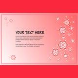 Рамка для текста с элегантным абстрактным флористическим мотивом Стоковое фото RF