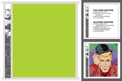 Рамка для scrapbook, знамени, стикера, социальной сети Злое geniu Стоковые Фотографии RF