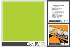 Рамка для scrapbook, магазина, стикера, социальной сети Смеясь над m Стоковая Фотография RF