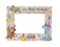 рамка дня рождения Стоковое фото RF