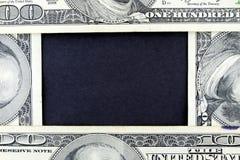 рамка 100 одно доллара валюты счета мы Стоковые Фото