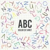 Рамка ABC карандаша детей иллюстрация вектора