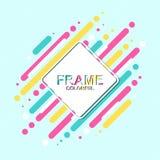 Рамка Colorfull с предпосылкой сини прокладки стоковые изображения