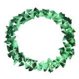 Рамка confetti Зеленая рамка Confetti рождества пейзаж Стоковые Изображения RF