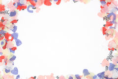 рамка confetti Стоковое Изображение