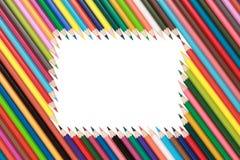 Рамка Crayons Стоковое Изображение