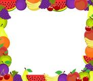 рамка 3d fruits высоко представляет res Стоковое фото RF