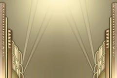 рамка deco здания искусства spotlights w иллюстрация вектора