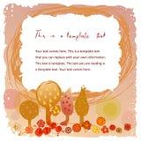 Рамка Doodle винтажная с садом Стоковые Фото