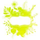 Рамка Doodle декоративная с продажей весны текста Стоковое Фото