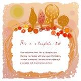 Рамка Doodle с милым садом Стоковое Изображение RF