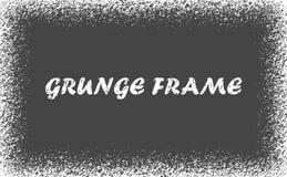 Рамка grunge вектора Возможность использования рамки Снег-текстуры - рождества шаблона дизайна Нового Года зим-границ иллюстрация штока