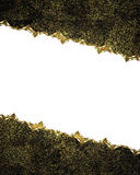 Рамка Grunge с орнаментами золота Элемент для конструкции Шаблон для конструкции скопируйте космос для брошюры объявления или при Стоковая Фотография RF