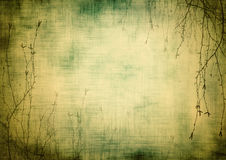 Рамка Grunge флористическая Стоковое Изображение
