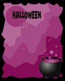 рамка halloween иллюстрация штока