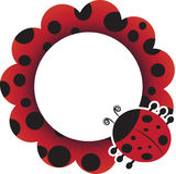 Рамка Ladybug Стоковое фото RF