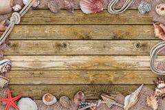 Рамка seashells Стоковые Фотографии RF
