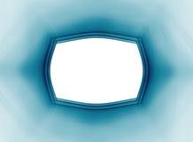 Рамка Teal на белой предпосылке Стоковые Фото
