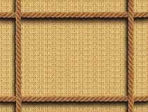 Рамка Wattled с веревочками Стоковое Изображение RF