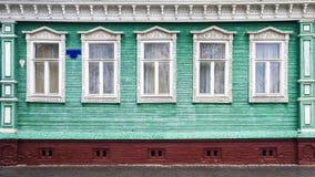 Рамки высекаенные русским деревянных домов Стоковая Фотография RF