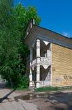 Рамки высекаенные русским деревянных домов Стоковое Изображение RF