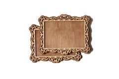 рамки 2 деревянные Стоковая Фотография RF