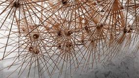 Рамки зонтика бамбуковые в тайской фабрике Стоковое Фото