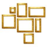 Рамки золота Стоковое Изображение RF