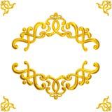 Рамки золота Стоковая Фотография