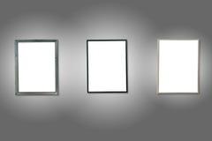 3 рамки изолированных белизной деревянных Стоковое Фото