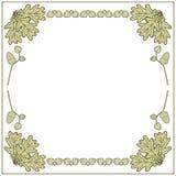Рамки иллюстрации сделанные из жолудей бесплатная иллюстрация