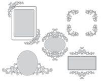 рамки конструкции установили вектор tracery Стоковые Изображения RF