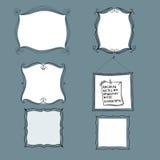 Рамки нарисованные рукой   иллюстрация штока