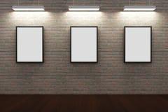 Рамки на кирпичной стене Стоковые Фотографии RF