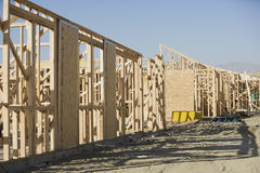 Рамки нового здания на месте Стоковое Фото