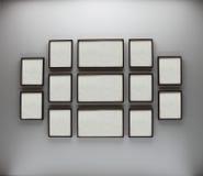 рамки огораживают белизну Стоковое Изображение RF