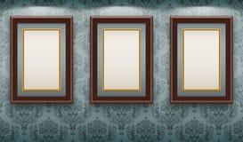 рамки огораживают деревянное иллюстрация вектора
