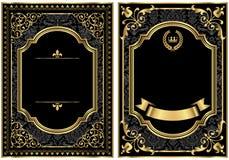 Рамки переченя золота винтажные Стоковые Изображения