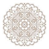 Рамки предпосылки или татуировки основанные на традиционных азиатских орнаментах Стоковая Фотография